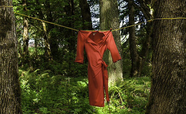 Dad's red dress